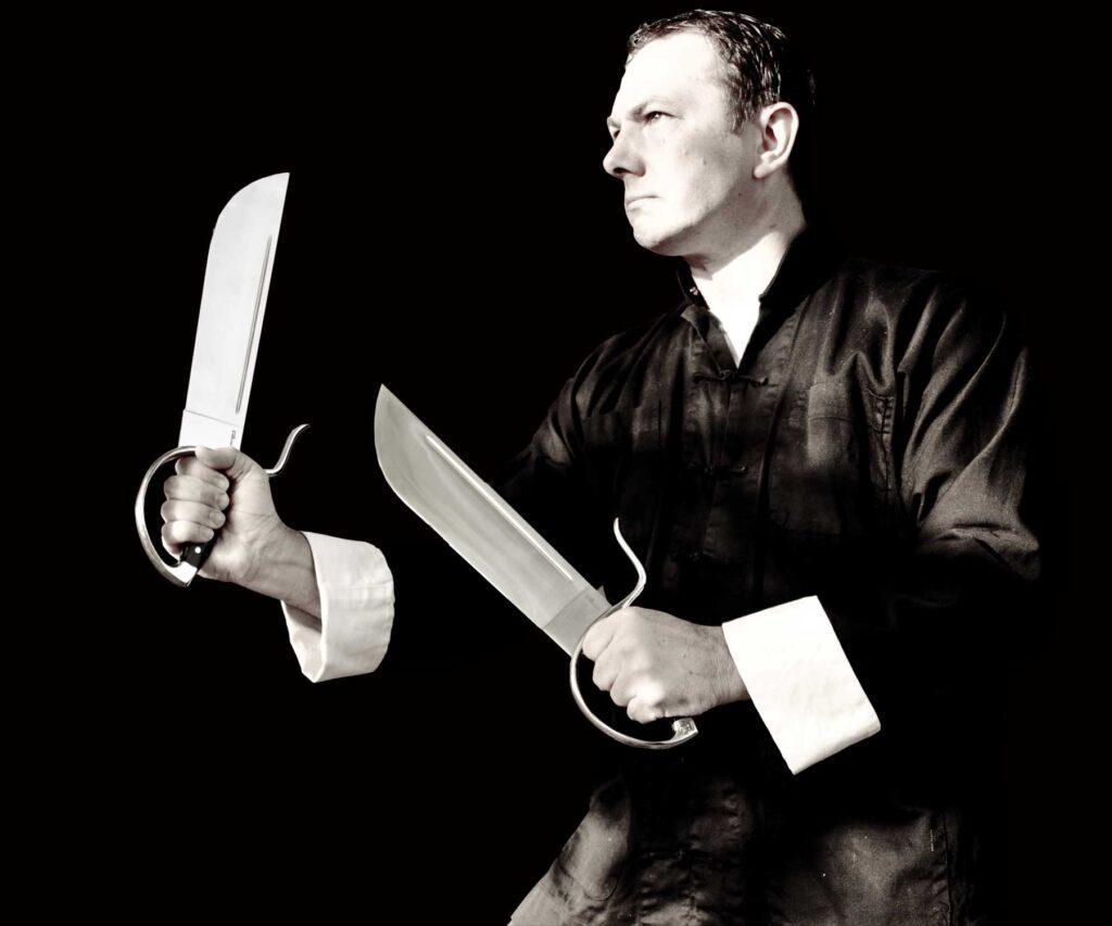 Sifu Wayne Belonoha with Butterfly Swords